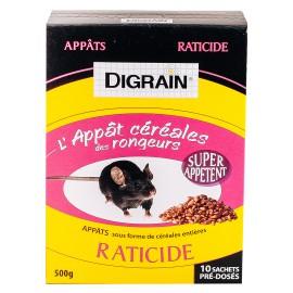 Anti rongeurs  Digrain l'Appât Céréales des Rongeurs Raticide (500 gr) - Produit Anti Rat