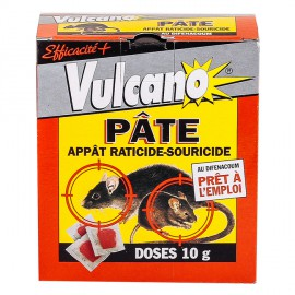 Souricide Raticide pate Vulcano Pâte Appât 25 Raticide-Souricide (150gr) - Produit Anti Rat / Anti Souris
