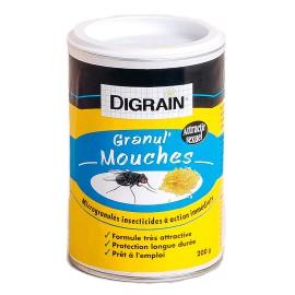 Produit anti-mouches prêt à l'emploi Digrain Granul'mouches (300 gr)