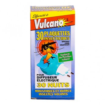 Vulcano Plaquettes Insecticides (Recharge)