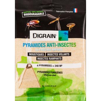 Produit Anti Insectes Volants & Rampants DIGRAIN PYRAMIDES ANTI-INSECTES
